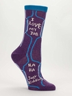 DAMENSOCKEN BLUE Q - I LOVE MY JOB
